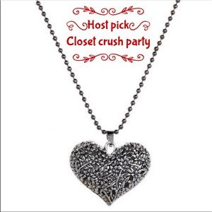 ❤️HP❤️Antique bronze silvertone hollow heart chain